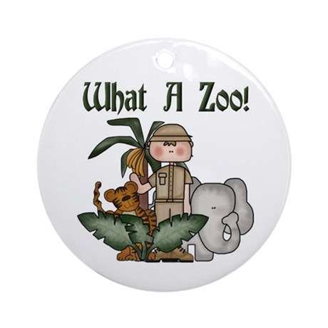 What A Zoo Ornament (Round)
