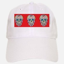SugarSkull Halloween  Red Baseball Baseball Cap