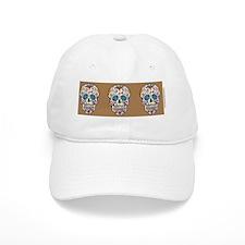 SugarSkull Halloween Khaki Baseball Cap