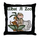 What A Zoo Throw Pillow