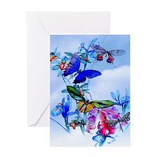 Shower Curtain Take Flight! Butterfl Greeting Card