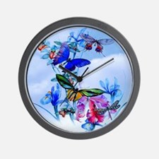 Shower Curtain Take Flight! Butterfly C Wall Clock