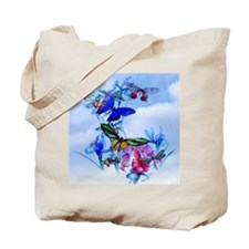 Shower Curtain Take Flight! Butterfly Cat Tote Bag