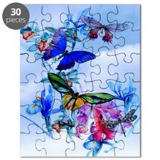 Shower Curtain Take Flight! Butterfly Cattl Puzzle