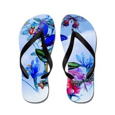 Shower Curtain Take Flight! Butterfly C Flip Flops