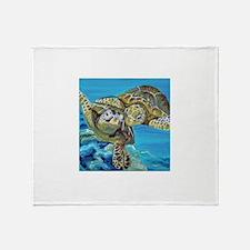 Marine Turtles Throw Blanket