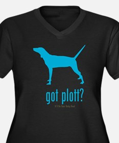 Plott Hound Women's Plus Size V-Neck Dark T-Shirt