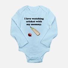 I Love Watching Cricket With My Mommy Body Suit