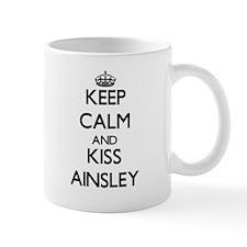 Keep Calm and kiss Ainsley Mugs