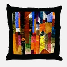 Klee - Before the Town. Paul Klee pai Throw Pillow