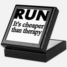 RUN..Its cheaper than therapy Keepsake Box