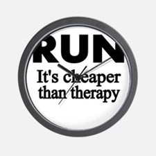 RUN..Its cheaper than therapy Wall Clock