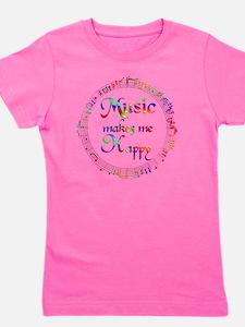 Music Makes Me Happy Girl's Tee