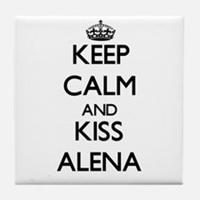 Keep Calm and kiss Alena Tile Coaster