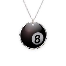 Glossy  Eightball Necklace