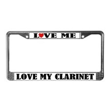 Love My Clarinet License Plate Frame