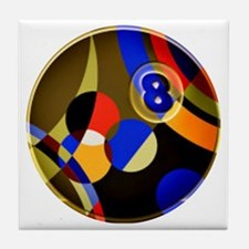 Abstract Eight Tile Coaster
