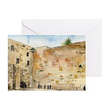 Western Wall Greeting Card