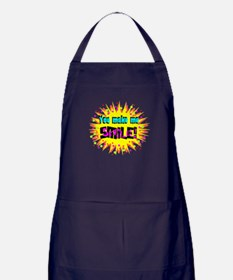 You Make Me Smile Apron (dark)