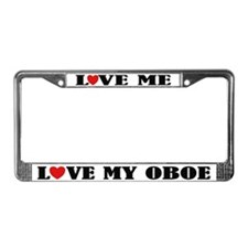 Love My Oboe License Plate Frame