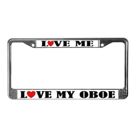 Love My Oboe License Plate Frame