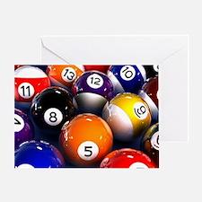 Billiard Balls Greeting Card