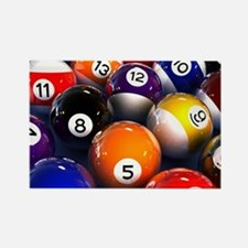 Billiard Balls Rectangle Magnet