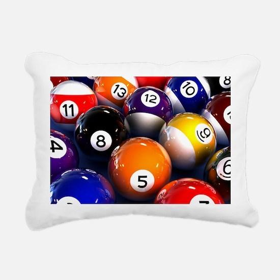 Billiard Balls Rectangular Canvas Pillow