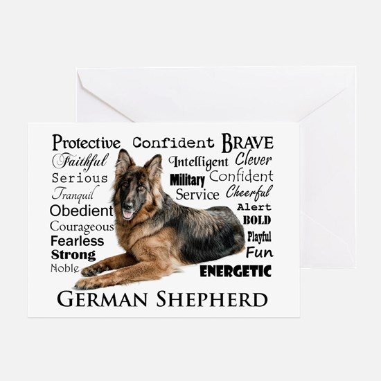 German Shepherd Traits Greeting Cards