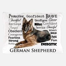 German Shepherd Traits Pillow Case