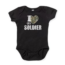 I Heart My Soldier Baby Bodysuit