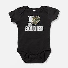 I Heart My Soldier Baby Bodysuit