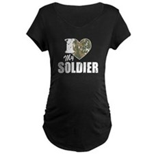 I Heart My Soldier Maternity T-Shirt