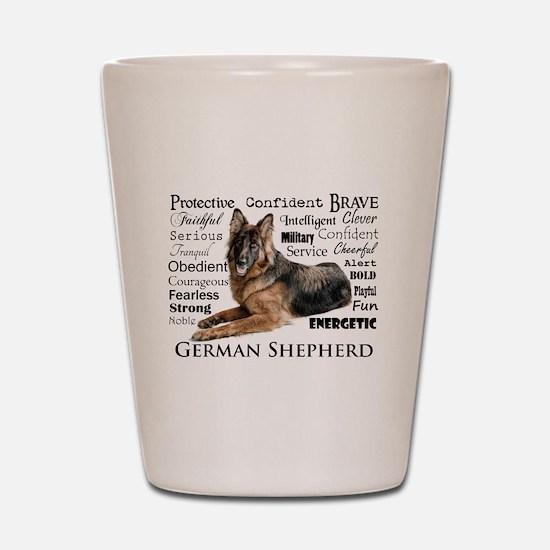 German Shepherd Traits Shot Glass