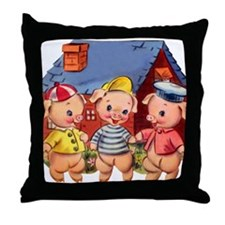 Cute Pigs Throw Pillow
