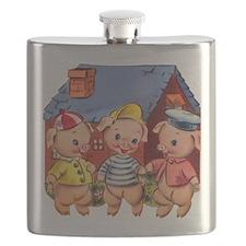 Cute Pigs Flask