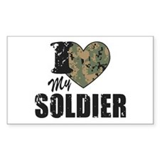 I Heart My Soldier Decal