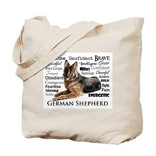 German Shepherd Traits Tote Bag