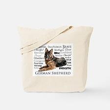 German Shepherd Traits Tote Bag