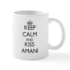 Keep Calm and kiss Amani Mugs