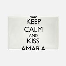 Keep Calm and kiss Amara Magnets