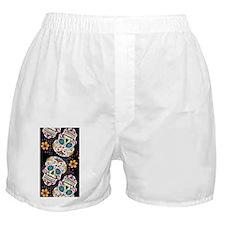 Sugar Skull Halloween  Black Boxer Shorts
