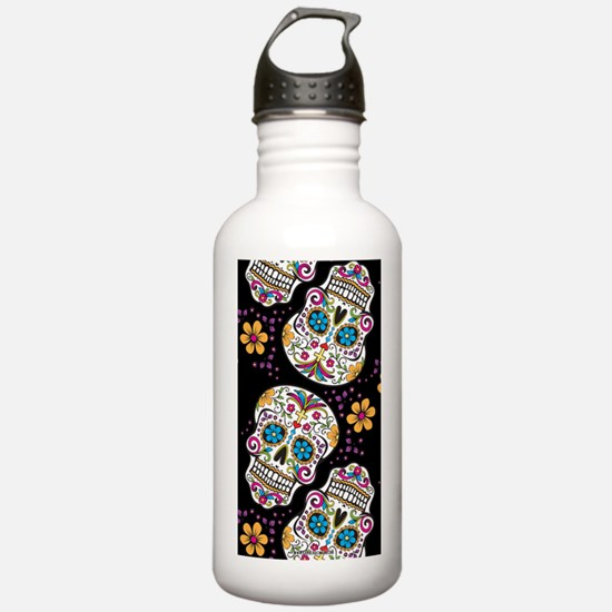 Sugar Skull Halloween  Water Bottle