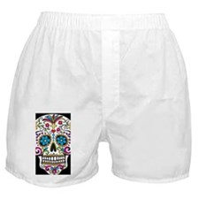 SugarSkull Halloween Black Boxer Shorts
