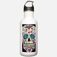 SugarSkull Halloween B Water Bottle