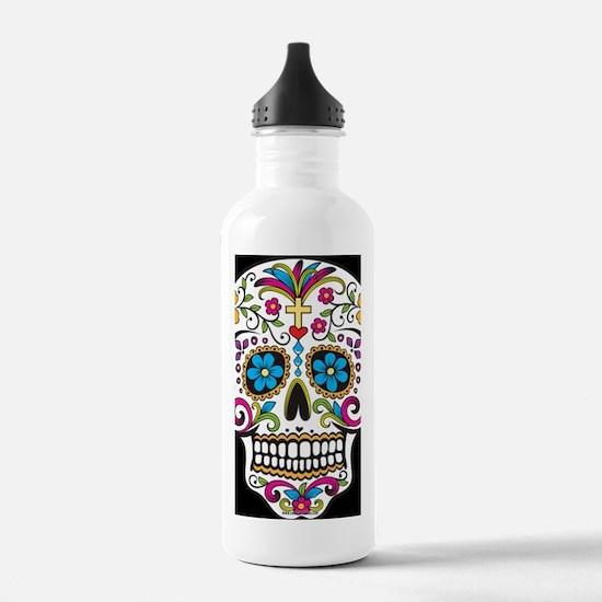 SugarSkull Halloween B Water Bottle