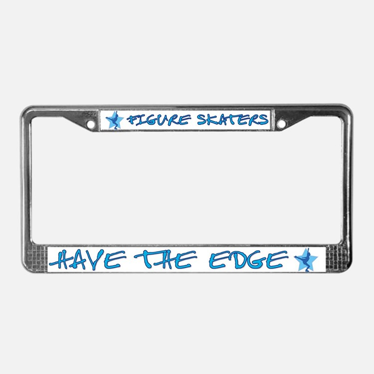 Ice Skating License Plate Frame