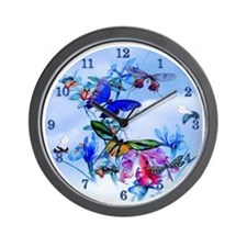 Frameless Clock Take Flight Bfly Cattle Wall Clock