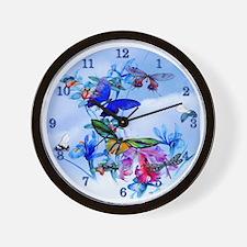 Frameless Clock Take Flight Bfly Cattle Wall Clock