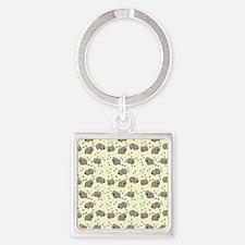 Wombat Square Keychain